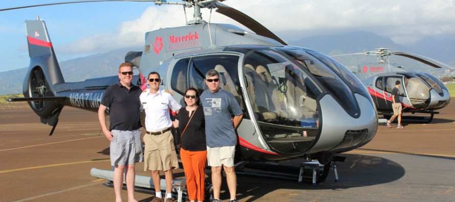 Maverick Helicopters hosts first flight in Hawaii